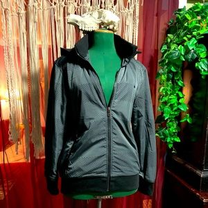 Playboy reflective cold weather active hood jacket